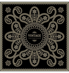 Gold decoration on black vector image