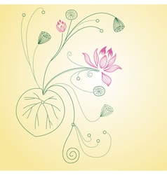 lotus flower card vector image