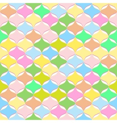 Seamless abstract geometric pattern pastel colors vector