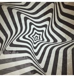 Abstract hypnotic retro background vector