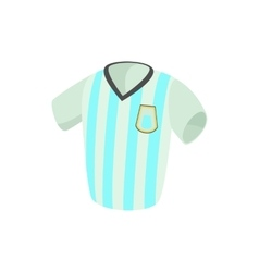 Argentina soccer jersey icon cartoon style vector