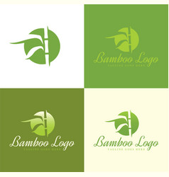 bamboo logo and icon vector image