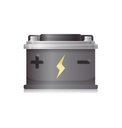 Battery car isolated vector