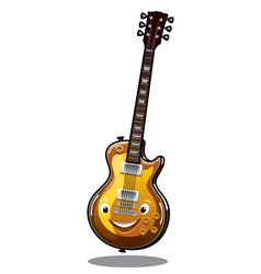 Cartoon electric guitar vector image vector image