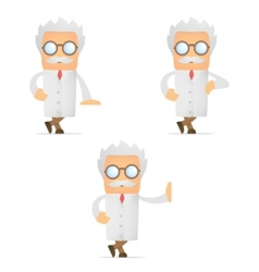 cartoon scientist vector image