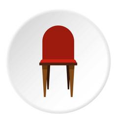 Chair icon circle vector