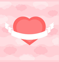 colorful isolated heart on a sky background with vector image vector image