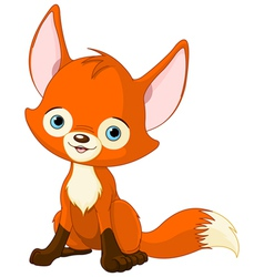 Cute baby fox vector