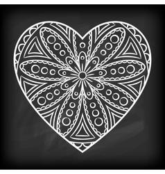 Doodle Heart Mandala vector image vector image