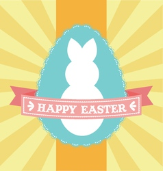 Easter lace egg carnival badge vector image