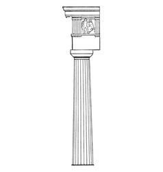 Greek doric peloponnese vintage engraving vector