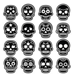 Halloween mexican sugar skull dia de los muertos vector