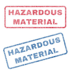 Hazardous material textile stamps vector