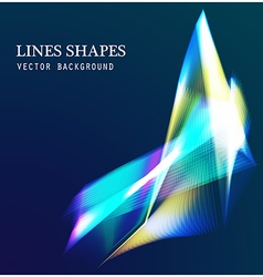 Lines shapes light abstract on blue dark vector image