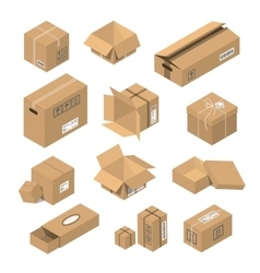 Moving box isometric isolated vector