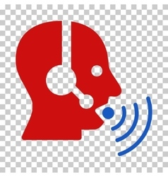 Operator talking sound waves icon vector