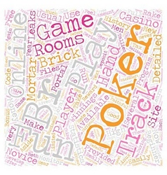 Play for fun online poker 1 text background vector