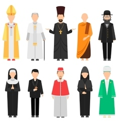 Religion people set vector