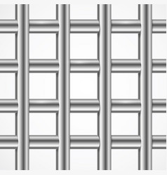 Square iron cage prison or jail bars vector