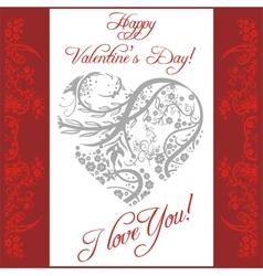Valentines day vintage lettering background - vector