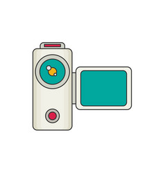 video camera flat vector image vector image