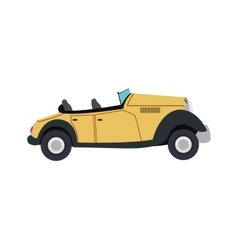 vintage convertible car icon vector image