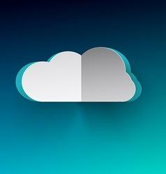 Cloud Cloud Paper Cut Cloud on Blue Backgr vector image