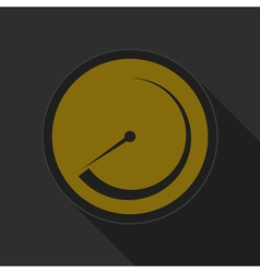 dark gray and yellow icon - dial symbol vector image