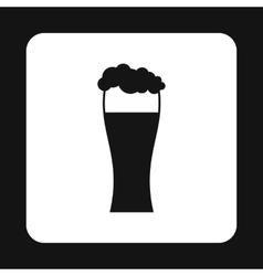 Glass of beer icon simple style vector