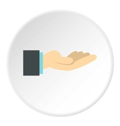 Gesture of charity icon flat style vector