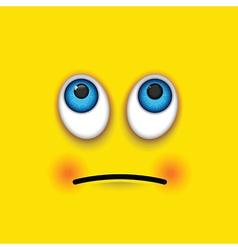 Rolling eyes square emoji vector
