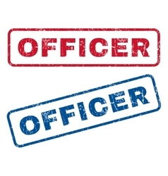 Officer rubber stamps vector