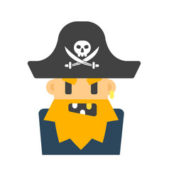 Captain pirate character vector