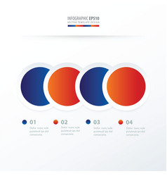 Circle overlap infographic blue red color vector