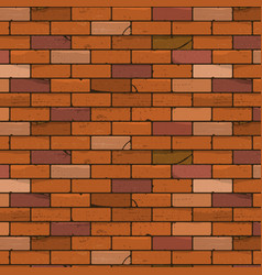 Brick wall seamless background vector