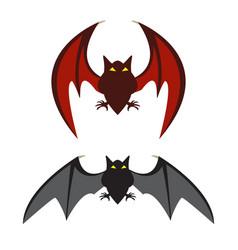 Red bat and black bat vector