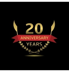 20 anniversary years vector