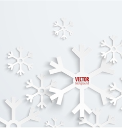 Abstract christmas snowflake paper 3d backbround vector