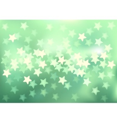 Green festive lights in star shape background vector