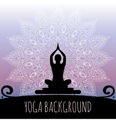 Yoga background vector image