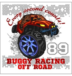 Dune buggy riders - off road badge vector