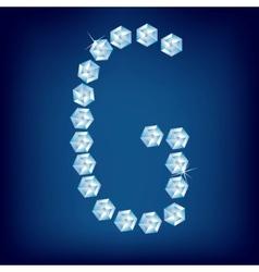 vector diamond alphabet letter g vector image