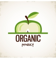Sliced apple icon organic product vector