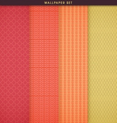 Wallpaper patterns and texture set vector
