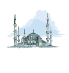 Blue mosque in Istanbul vector image