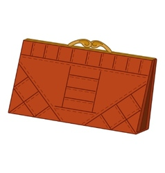 Brown leather wallet vector