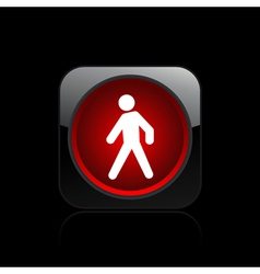 Pedestrian traffic light vector