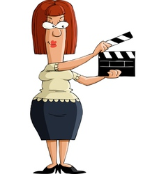 Girl with a clapboard vector