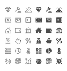Business and investment icons vector