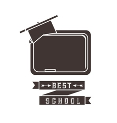 Chalkboard and cap icon back to school design vector